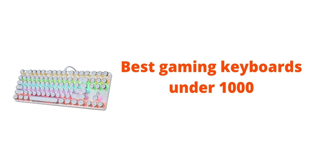 gaming keyboards under 1000 with RGB lights