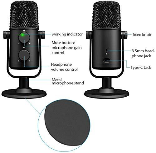 MAONO AU-902 USB Condenser Podcast Microphone,