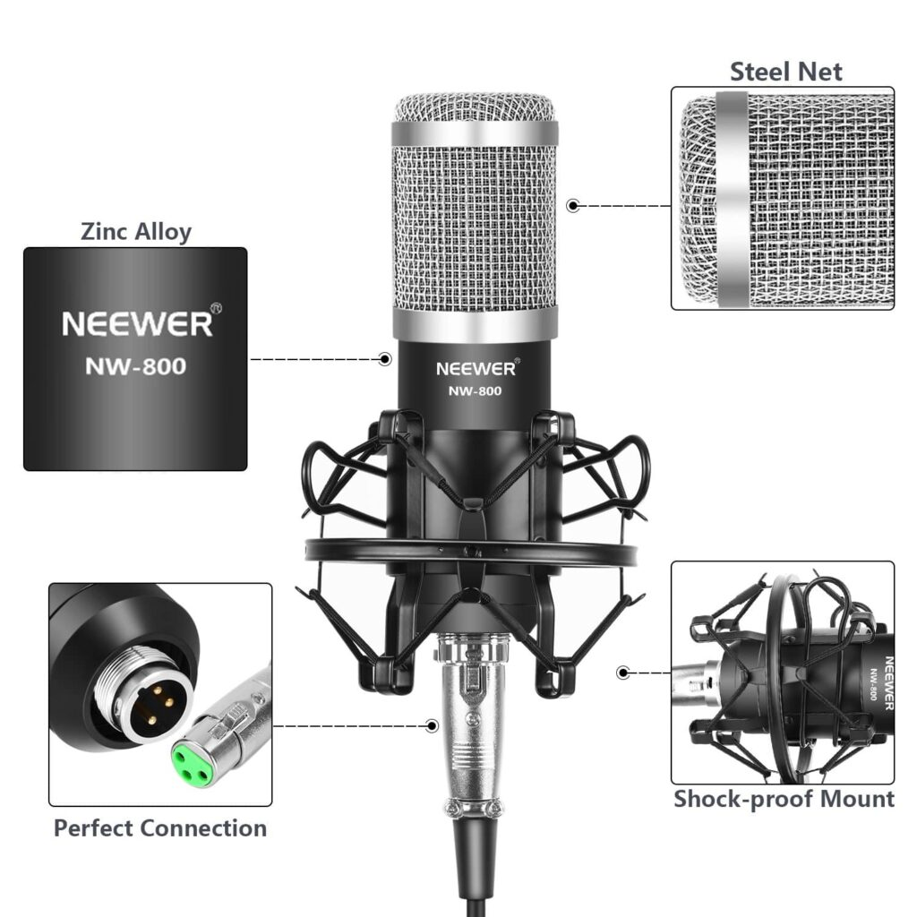 Neewer NW-800 Pro Cardioid Studio Condenser Microphone